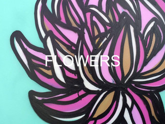 flower painting icon for contemporary fine art paintings in spray paint and oils and other, once you