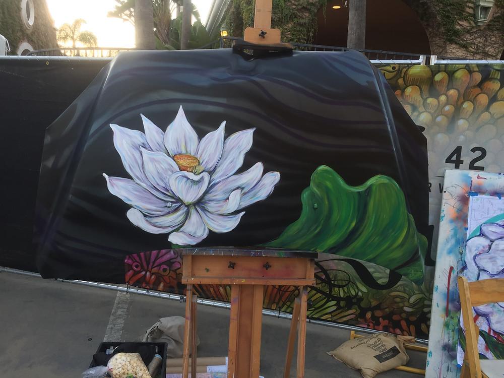 Car Hood Painted at KaaBoo Del Mar
