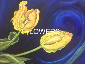 Orange Tulips for the Contemporary Fine Art Oil Painting Flowers by Andrea LaHue aka Random Act