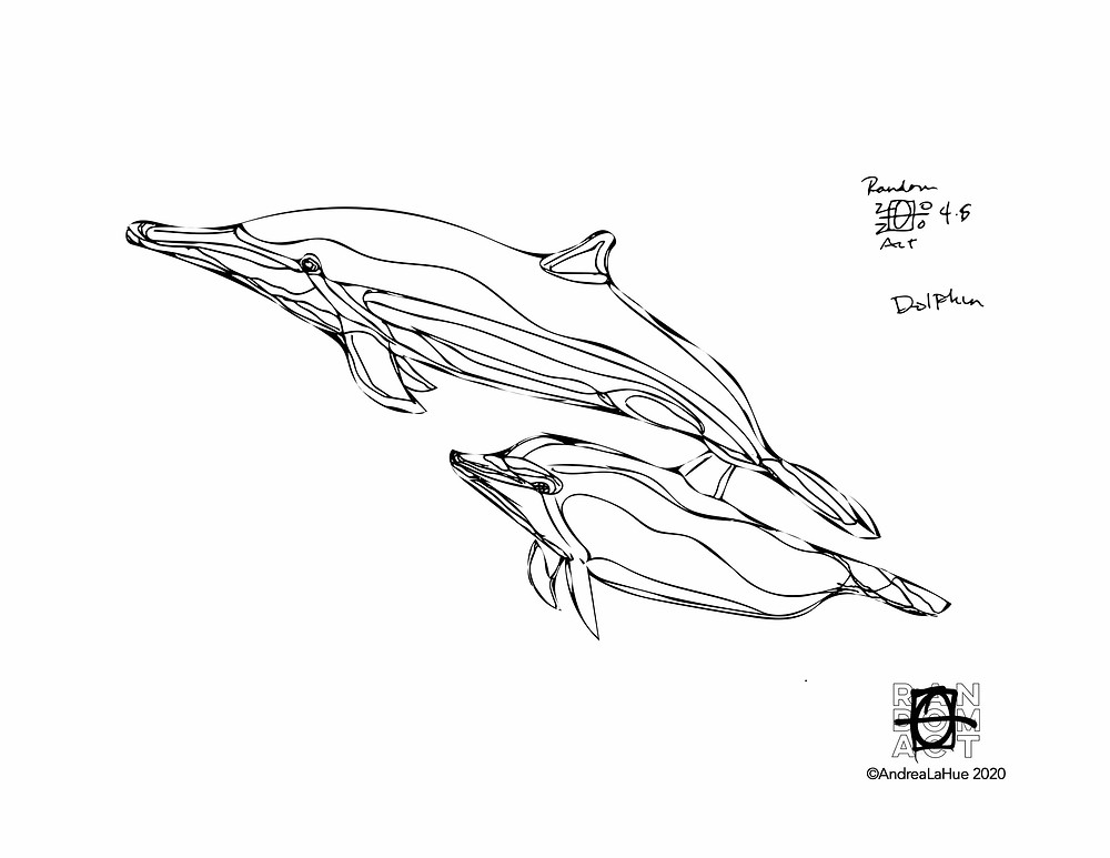 dolphin coloring page by Andrea LaHue