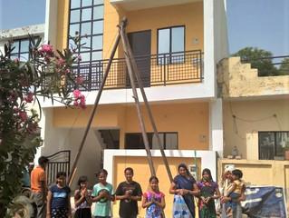 Uusi koulurakennus odottaa oppilaitaan