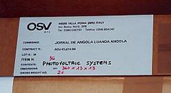 Angola: Impianto fotovoltaico