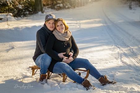 Babybauch, Winter, Paarshooting