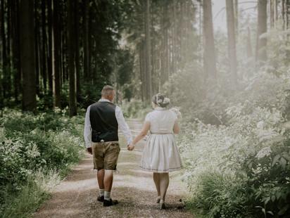 Shooting im Wald, Hochzeit