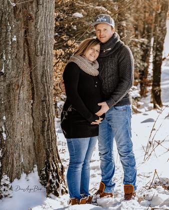 Babybauch, Outdoor, Winter