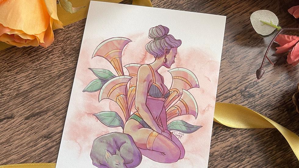 5x7 Print - Watercolor Pin-up