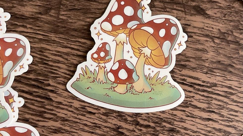 Vinyl Sticker - Mushroom
