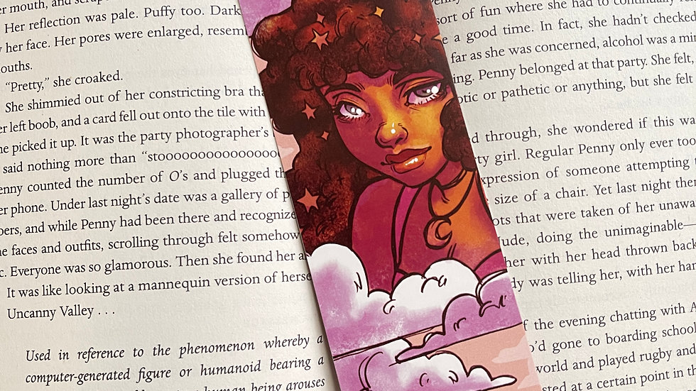 Bookmark - Brown Haired Cloud Portrait