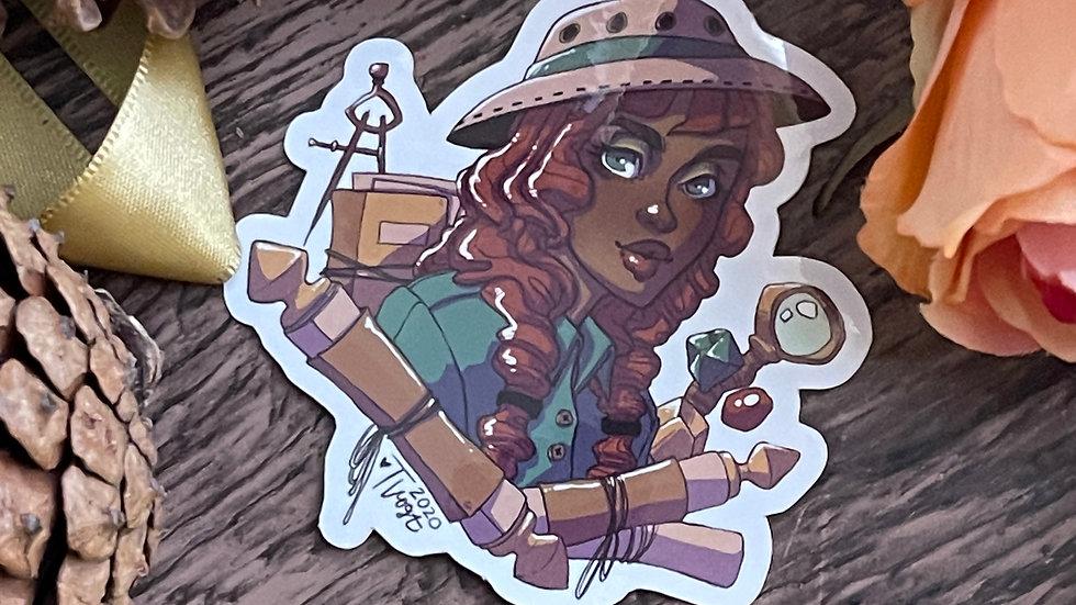 Vinyl Sticker - Archeology Portrait