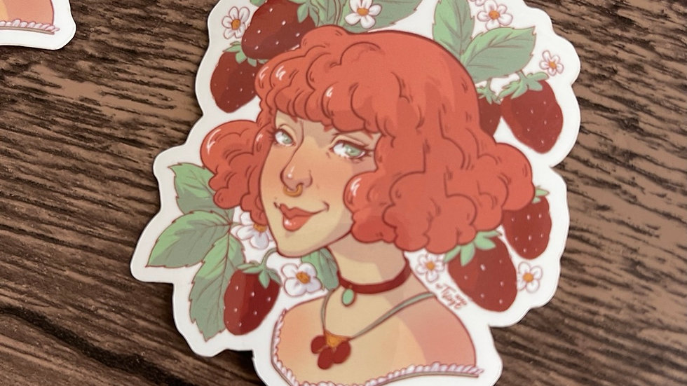 Vinyl Sticker - Kylee Strawberry