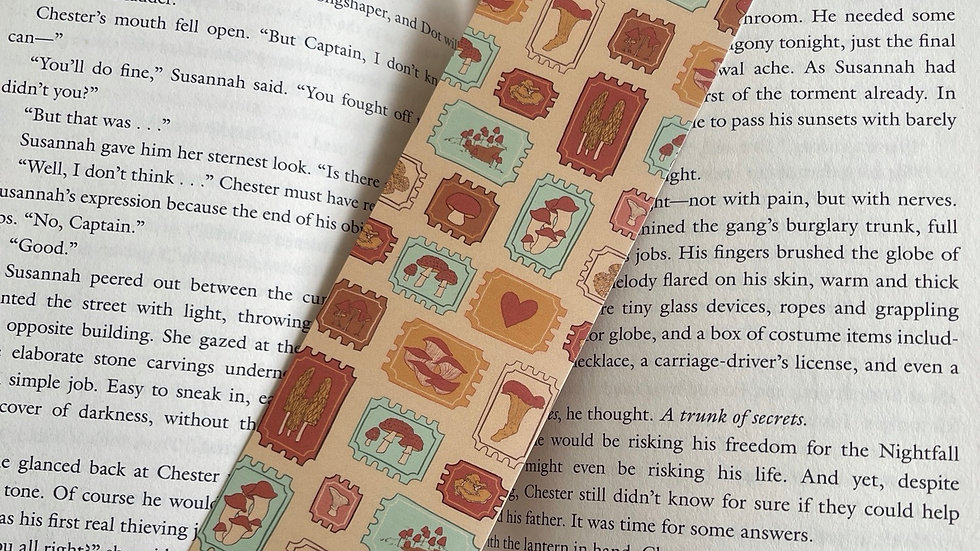 Bookmark - Mushroom Stamps