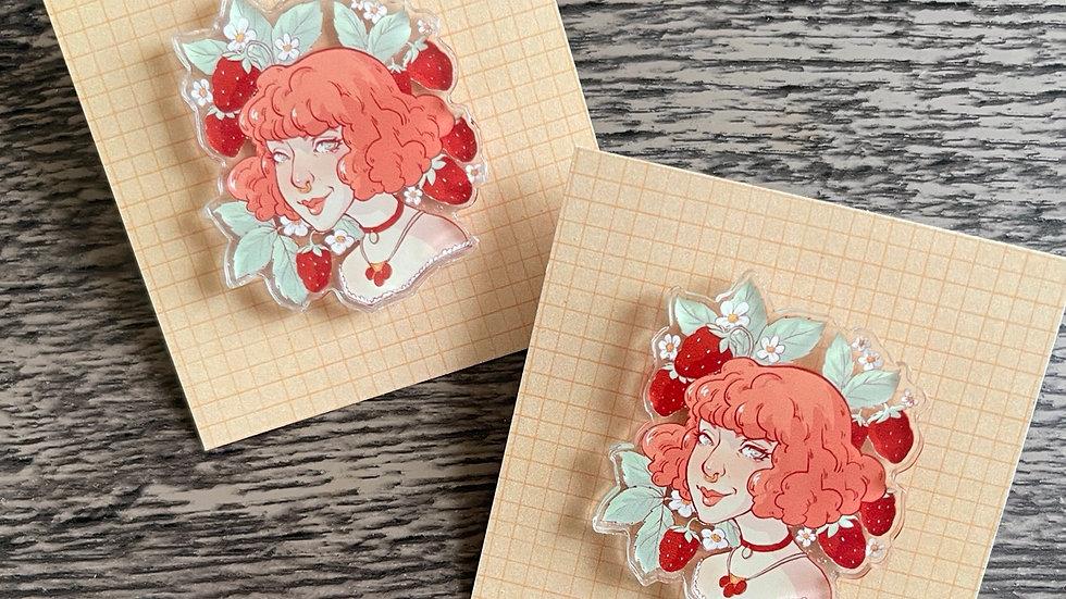 Acrylic Pin - Kylee Strawberry