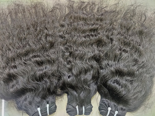 Raw coarse curly hair extensions