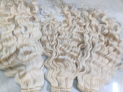 Blonde curly Hair Extensions