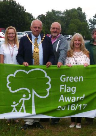 Apex Green Flag Award flag raising 2016.