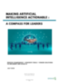 "Title Page for Report ""Making Artificial Intelligence Actionable: A Compass for Leaders"""