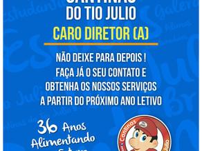 Cantinas do Tio Julio presente em Belo Horizonte para atendimento a diretores e mantenedores.