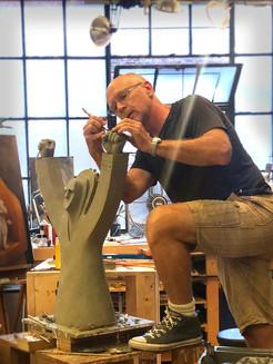 Paul at Work in studio