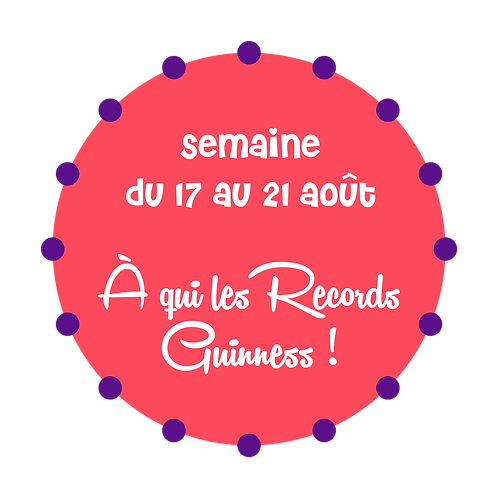 À QUI LES RECORDS GUINNESS ! / BOUCHERVILLE
