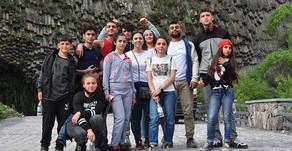 After Three Months of Confinement, Children's Center Kids Take Day Trip to Garni Gorge