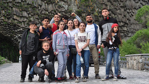 After Three Months of Confinement, Children's Center Kids Take Day Trip to Garni Gorge