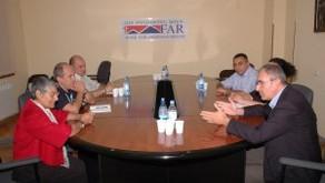 Armenia Mission Director Jatinder Cheema visits FAR Yerevan office