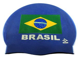 Touca para Natação em Silicone Brasil