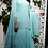 Thumbnail: Pastel Gree Chiffon Skirt with Pearl Embroidered Long top & dupatta ta