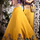 Thumbnail: Sequin Purple Corset Blouse & Yellow silk Organza Lehenga
