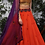Thumbnail: Rust Orange lehenga with embroidered blouse and dupatta