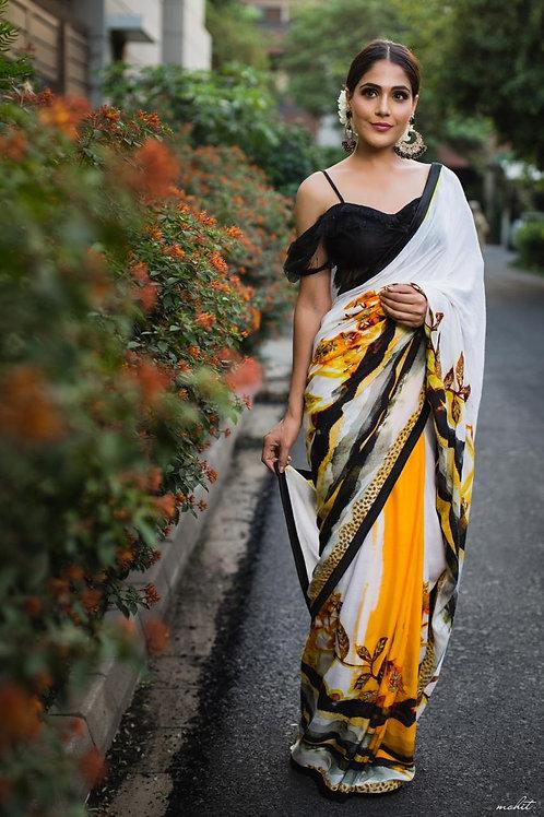 Dragon Saree