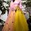 Thumbnail: Yellow Net Lehenga with Silk Satan blouse & Floral Buti Dupatta