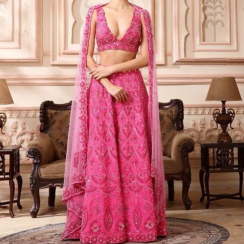 Rose Pink Bridal Lehenga