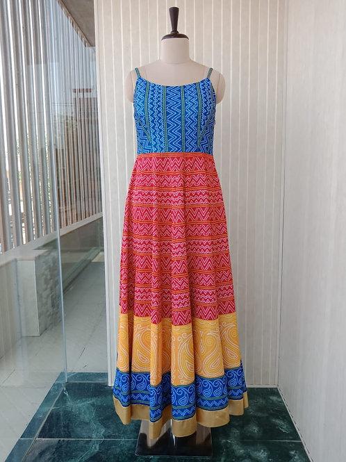 Multicolor Bandhini Dress