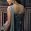 Thumbnail: Green Pleated Saree with Embroidered blouse & Drape
