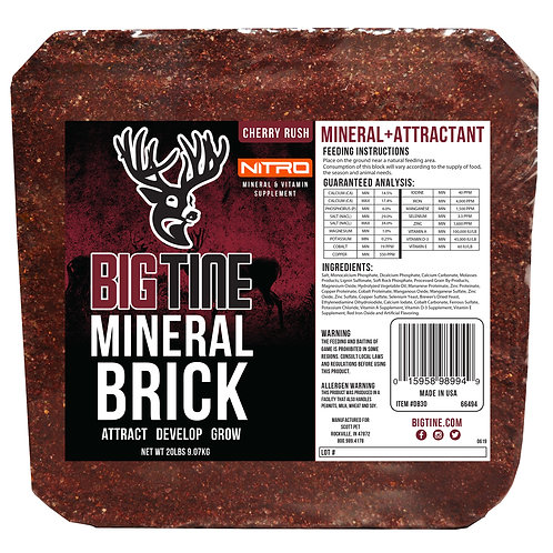 Big Tine 20 # Cherry Rush NITRO Deer Mineral Block
