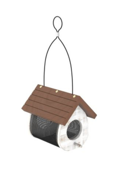 1.6 # WHITE CUTE CLING THISTLE WOOD FEEDER