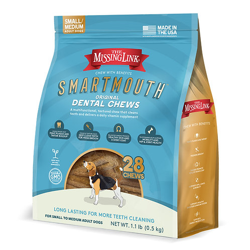 SMARTMOUTH DENTAL CHEW FOR SMALL / MEDIUM DOGS 28 COUNT
