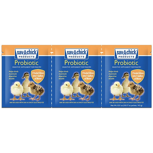 Sav-A-Chick Probiotic Digestive Supplement Strip of 3