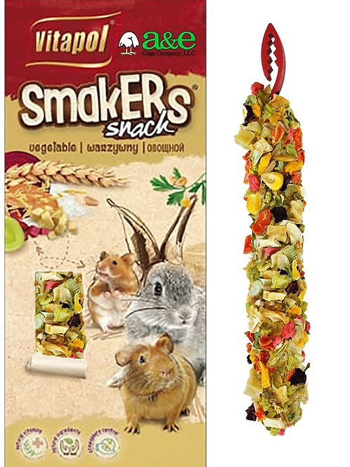 SMALL ANIMAL SMAKERS TREAT STICKS TWIN PACK - VEGETABLE
