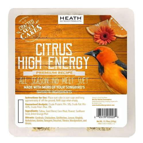 11.75oz Orange Citrus Premium High Energy Suet Cake