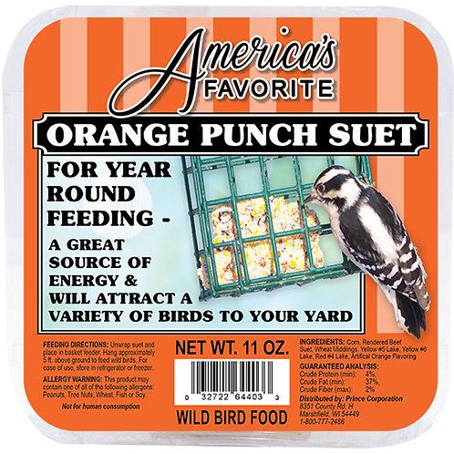 11 oz Orange Punch Suet Cake
