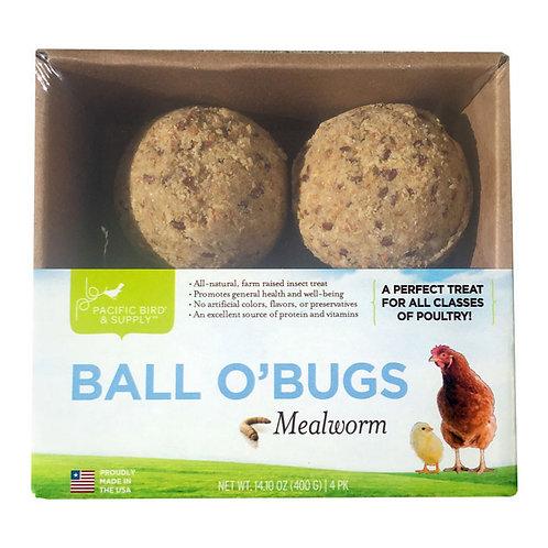 GOURMET CHICKEN GRUB BALL O BUG MEALWORM 4/PK
