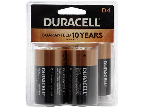 Duracell 4-pk D Batteries