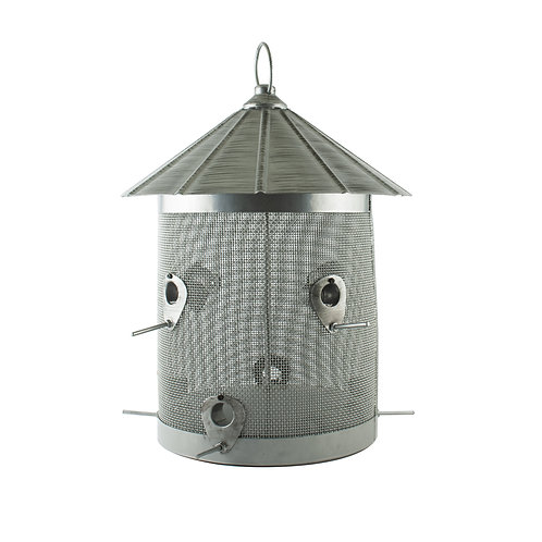 10 # GALVANIZED SILO COMBO SEED FEEDER W/ PERCH