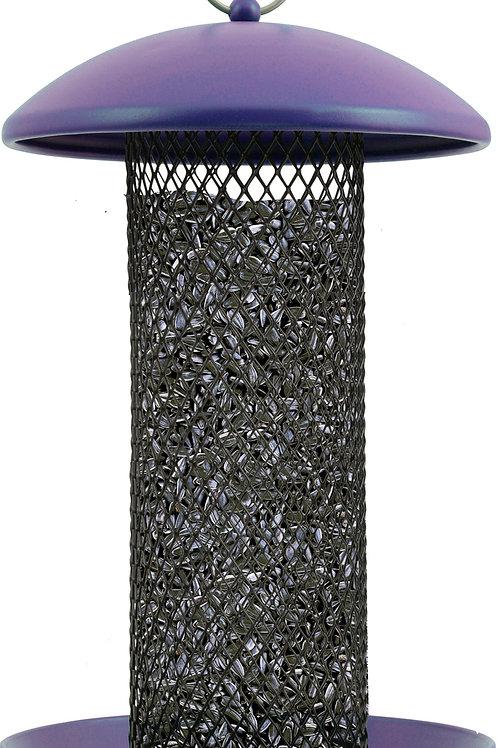 Purple Shorty Metal Bird Feeder
