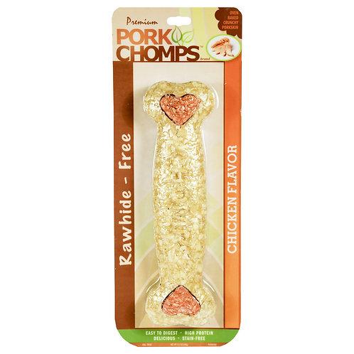 """Pork Chomps Rawhide Free Chicken Flavored Dog Treat 8"""""""