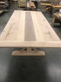 Oak and Walnut Trestle Table