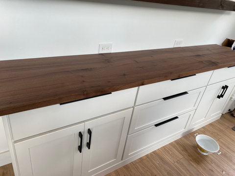 Black Walnut Butlers Pantry Counter