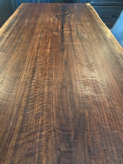 Curly Black Walnut Desk Top